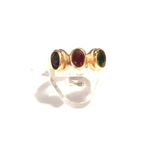 New crystal gold women's ring size 7